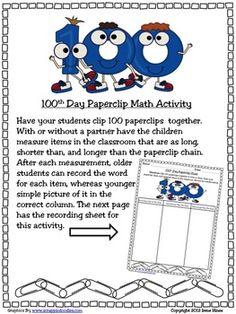 100 Is A Magic Number~100th Day Of School Unit. This cross-curricular unit is full of ideas, activities, projects & printables to help you celebrate the 100th day. You will find ways to commemorate the 100th day during mathematics, reading, writing, social studies & science as well as art and brain break ideas. Whether you devote the entire day to celebrating 100 days in school or just pick and choose activities to enhance your curriculum, everyone will agree that 100 is a magic number!