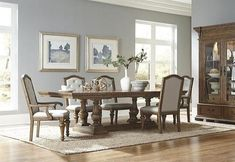 Stratton Table w/ 4 Side Chair & 2 Arm Chairs