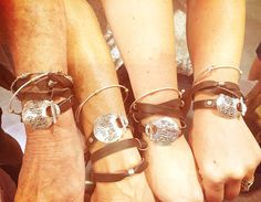 Met up with some traveling gypsies at the CMA's...they loved our Gypsy Soul Wrap Bracelets...  #bracelet #bracelets #jewelry #cowgirljewelry #bohojewelry #bohemianjewelry #gypsyjewelry #bohostyle #cowgirlstyle #westernstyle #gypsystyle #bohochic #nashville #marathonvillage #wordjewelry #inspirationaljewelry #quotejewelry #cma2016      http://www.islandcowgirl.com