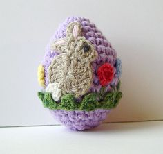 Crochet Bunny Easter Egg