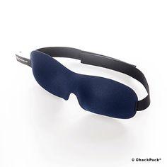 Seelig Schlafen auf langen Flügen, nie mehr Jet-Lag: Ohropax Schlafmaske 3D dunkelblau | ChackPack.com