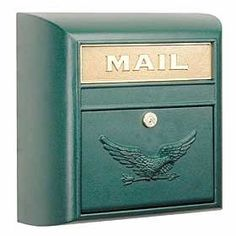 Architectural 4150E Green MODERN MAILBOXES by Architectural. $103.46. MODERN MAILBOX-EAGLE DOOR Made of cast aluminum,4100 series surface mounted modern mailboxes have a 10 W x 2-1/2 H solid brass mail flap with the word MAIL cast into it. Units are accessed from the front through a locking 10 W x 6-1/2 H door and in
