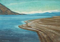 Alan Collier - Kluane Lake Yukon From South End 12 x 16 Oil on board Canadian Artists, Waves, Painting, Outdoor, Oil, Board, Necklaces, Outdoors, Painting Art