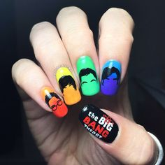 Polished Inka - Big Bang Theory Nail Art #slimmingbodyshapers   To create the perfect overall style with wonderful supporting plus size lingerie come see   slimmingbodyshapers.com