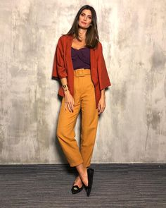Orange Outfit Ideas Gallery yes you can wear orange and purple together and look Orange Outfit Ideas. Here is Orange Outfit Ideas Gallery for you. Orange Outfit Ideas how to . Color Blocking Outfits, Colourful Outfits, Cool Outfits, Summer Outfits, Look Fashion, Autumn Fashion, Fashion Outfits, Girl Fashion, Womens Fashion