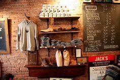 store interior - love the brick