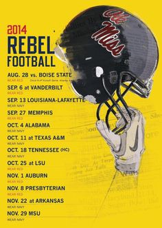Ole miss game day schedule