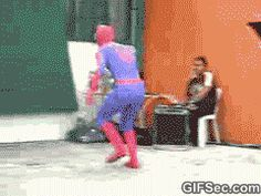 GIF: Spiderman FAIL - www.gifsec.com