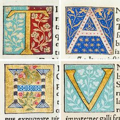 Illuminated letters: Italian book on the history of Rome, titled Scriptores Historiae Augustae, from the Special Collections of the University of Glasgow and published by Philippus de Lavagnia in 1475. The letters are thought to have been added to the text in the 15th or 16th century