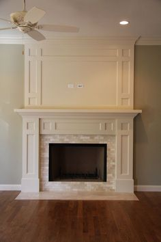 Love the detail on the fire place wall - really makes it a focal point.  Would love to do something like this to ours!