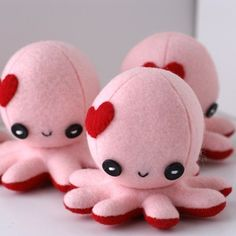Handmade Gifts | Independent Design | Vintage Goods Octo-Plushie In Love! - Collectible Plushes