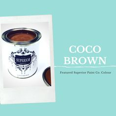 Superior Paint Co. Coco Brown: This is the perfect rich and delicious chocolate brown. Coco Brown is beautiful as a solid colour and glazed or antiqued over another colour. Color Of The Week, Delicious Chocolate, Chocolate Brown, Antiques, Painting, Beautiful, Antiquities, Antique, Painting Art
