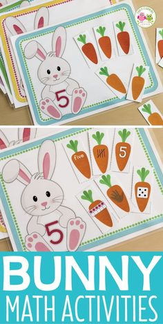 Kids can work on counting, numeracy, tally marks, numeral re Number Activities, Counting Activities, Spring Activities, Toddler Activities, Kindergarten Lesson Plans, Kindergarten Activities, Easter Activities For Preschool, Math Work, Spring Theme