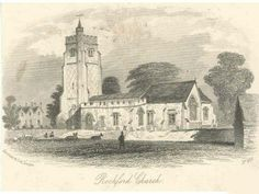 St Andrew's, Rochford and Rochford Hall, Essex ~ An old print of St Andrew's church and Rochford Hall in Essex. The hall was home to the Boleyn family...
