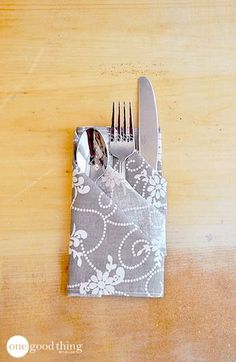 Add an extra special touch to any table with this quick and easy napkin folding idea! Step-by-step instructions with photos.