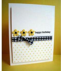 Daisy and Polka Dots Birthday Card @ Rs. 199