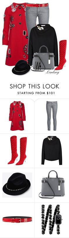 """""""Marc Jacobs Collection Embroidered Coat With Pavé Buttons"""" by lindsayd78 ❤ liked on Polyvore featuring Marc Jacobs, George J. Love, Gucci, Dorothee Schumacher, Valentino, Michael Kors, Jil Sander and Chanel"""