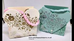 #4 Wedding Week Sweet Embossed Favor Bag With Beaded Handle