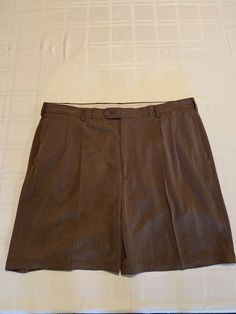 af8ffa24fd A. Bank Brown 100% Silk MEN'S SHORTS - SIZE 44