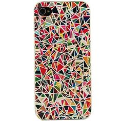 Colorful Triangles Pattern Case for iPhone 5/5S – USD $ 1.99