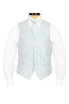 Beckbury Pale Blue embroidered morning waistcoat