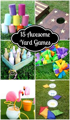 These 15 Awesome Yard Games look like so much fun. So many great ideas, most of . These 15 Awesome Yard Games look like so much fun. So many great ideas, most of them with DIY instructions. Garden Party Games, Kids Party Games, Birthday Party Games, Outdoor Birthday Games, Outdoor Party Games, Party Garden, Outdoor Toys, Fairy Party Games, Birthday Games For Kids