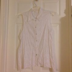 """Cotton shirt or vest tunic length Great floral pattern embroidered on the fabric. Length is 28"""", 30"""" on sides. Could be a nice coverup also. Jones New York Tops Tunics"""