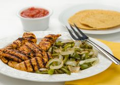 Chicken fajitas are one of the best choices when it comes to Mexican food because chicken is a lean protein and grilling is a healthy cooking method. Also, fajitas are topped with low-carb veggies like onions and green peppers.