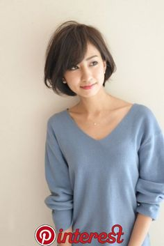 Pin on 大人ショートボブ Stacked Bob Hairstyles, Bob Hairstyles With Bangs, Bob Haircut With Bangs, Straight Hairstyles, Japanese Short Hair, Medium Hair Styles, Short Hair Styles, Bobs For Thin Hair, Hair Arrange