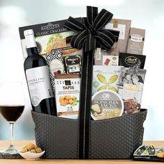 Wine Gift Baskets - Holiday Celebration Wine Basket