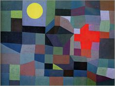 Paul Klee - Fire with Full Moon - 1933 - oil on canvas - 65 x 50 cm - Museum Folkwang