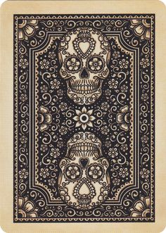 IDEA! Print the image on wax paper and use to iron-transfer onto wood trim. Bicycle® Dia de Los Muertos playing cards