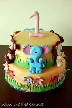 Ashley's 1st birthday cake.     Delicious