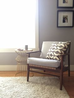 Oleander and Palm: Mid Century Chair Recovered