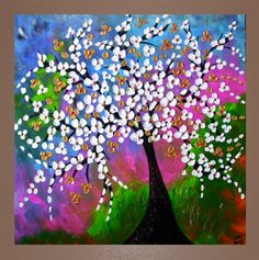 White Flower Tree Painting