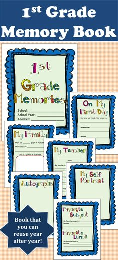 Your kids will love reminiscing about their amazing 1st grade year. This book includes everything from the first day to autographs from classmates. Awesome gift to send home to parents! $