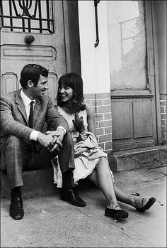 Anna Karina and Jean-Paul Belmondo in Pierrot le Fou