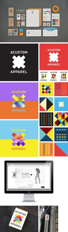 Acustom Apparel Identity by Matt Luckhurst | #stationary #corporate #design #corporatedesign #identity #branding #marketing < repinned by www.BlickeDeeler.de | Take a look at www.LogoGestaltung-Hamburg.de