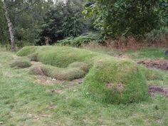 Newt-like earth mound