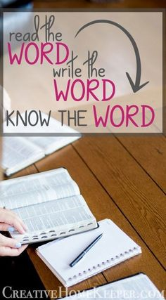 The simple discipline of writing out the Scriptures has made God's Word come alive & active to me than anything else I had done before to grow in my understanding of the Bible. Read the Word, Write the Word, KNOW the Word. that's powerful! Bible Study Plans, Bible Study Tips, Bible Study Journal, Scripture Study, Bible Lessons, Scripture Memorization, Bible Verses About Strength, Bible Words, Bible Scriptures