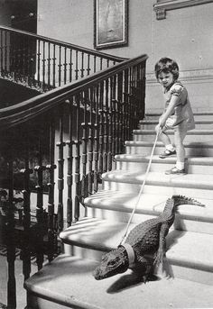katie trying to sneak her pet out of house before her mommy see's her and he's a mean one.