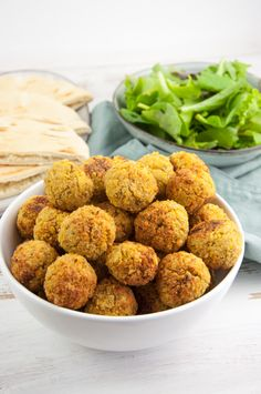 POssibly use apple sauce instead if you need something to help hold it together. Huge Batch of Oven-Baked Falafel Balls (Freezer-Friendly! Dog Recipes, Raw Food Recipes, Veggie Recipes, Appetizer Recipes, Vegetarian Recipes, Cooking Recipes, Healthy Recipes, Food Tips, Recipes Dinner