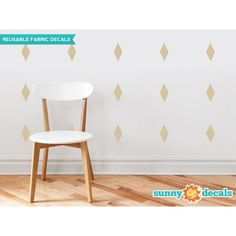 Sunny Decals Diamond Fabric Wall Decal Color:
