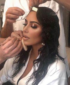 mmirandalaurenn - kim kardashian west wet halo eye makeup look for met gala Kim K Makeup, Cute Makeup, Glam Makeup, Beauty Makeup, Hair Beauty, Makeup Box, Beauty Skin, Makeup Tips, Make Up Looks