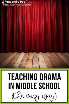Ideas For Teaching Drama - 2 Peas and a Dog - Fun drama lesson ideas and activities for elementary and middle school teachers, from the 2 Peas an - Middle School Drama, Middle School Teachers, High School, Drama Teacher, Drama Class, Drama Drama, Drama Activities, Drama Games, Teaching Theatre