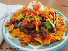 Fiesta Taco Salad. ☀CQ #summer #salad #dressing