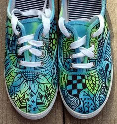 Zentangle Art | Zentangle sneakers, shoes, sneakers, zentangle art, original art, OOAK ...