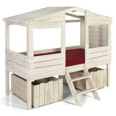 Lit cabane pour enfant avec tiroirs de rangement - Kit Woody Wood