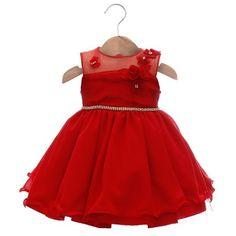 Vestido Heloisa Vermelho - Beth Bebê