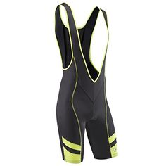 Black Friday Tenn Mens Bib Front Cycling Shorts with Moulded Pad -  Black Yellow M from Tenn-Outdoors cbca6af53